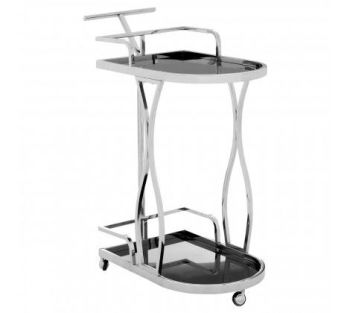 Novo 2 Tier Silver / Wavy Design Trolley
