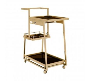 Novo 3 Tier Gold Finish Trolley