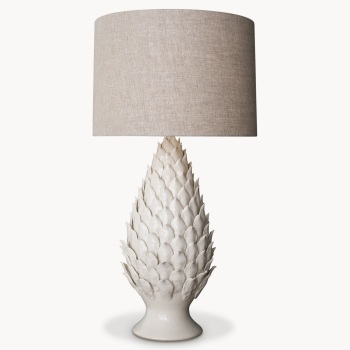Clifton Glazed Pineapple Shaped Lamp with Shade