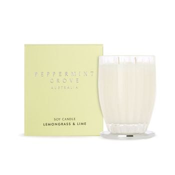 Peppermint Grove Lemongrass & Lime Large Candle 350g