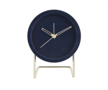 Lush Dark Blue Velvet Alarm Clock