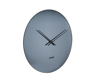 Black Mirrored Wall Clock