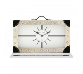 Cowhide Mantel Clock