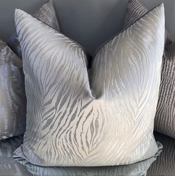 Luxury Silver Tiger Handmade Cushion