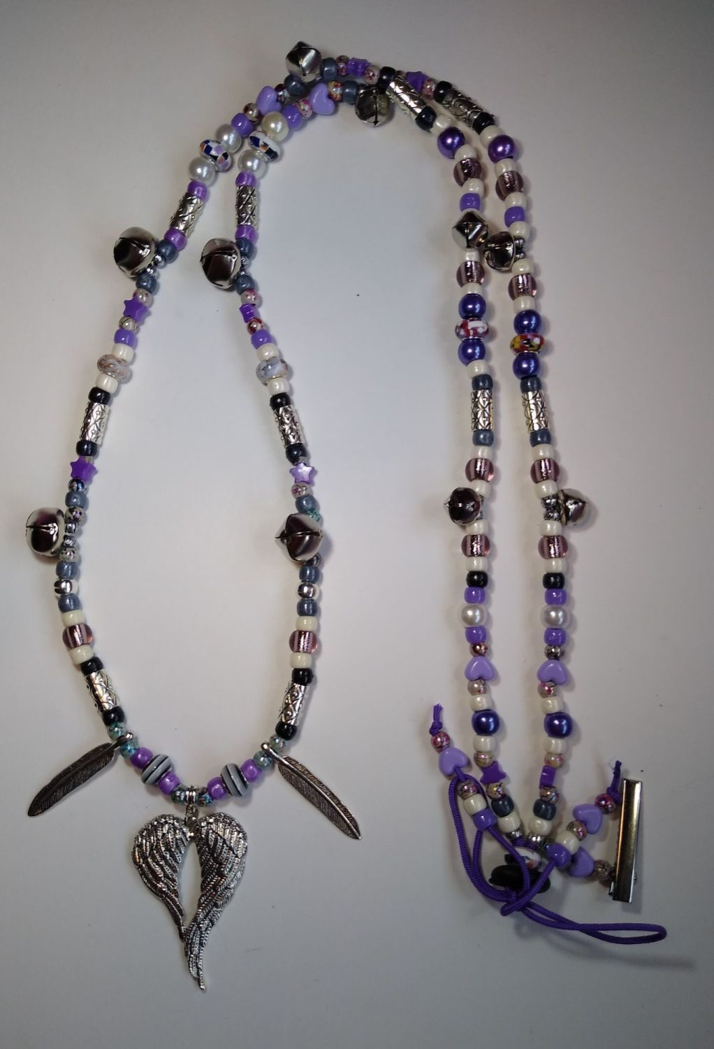 Rhythm Beads - Spiritual Angel Wings and Feathers. Smaller Cob to Smaller H