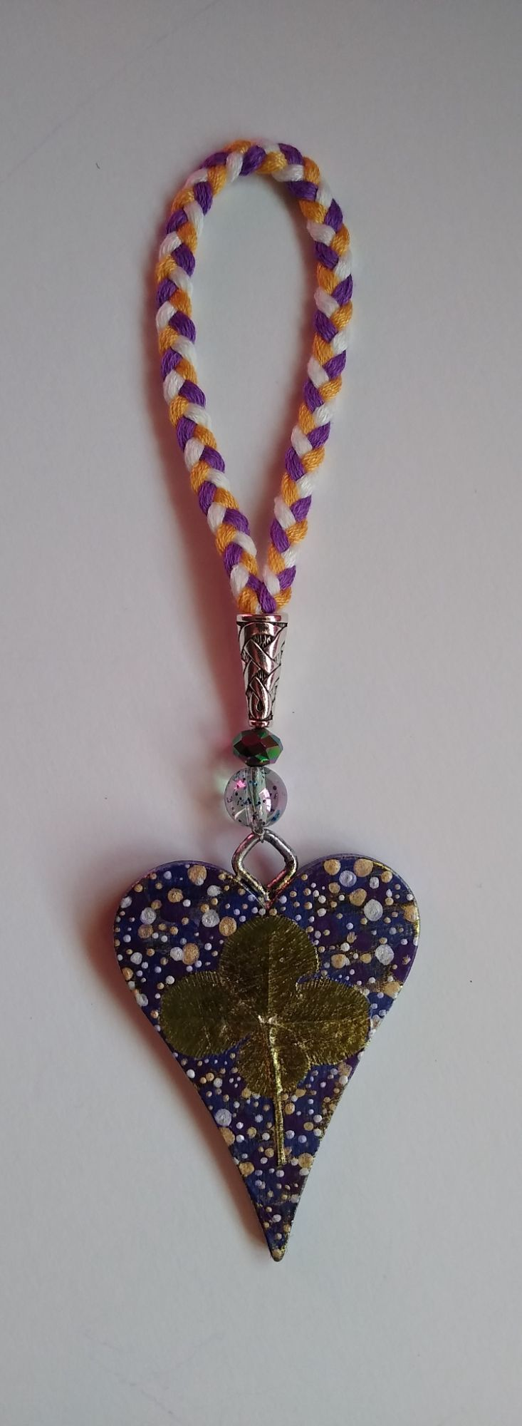 BLUE AND PURPLE LUCKY HEART
