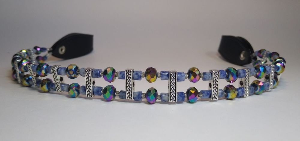 BROWBAND - TRUST AND SOLIDARITY BLUE SODALITE. Extra Full Size