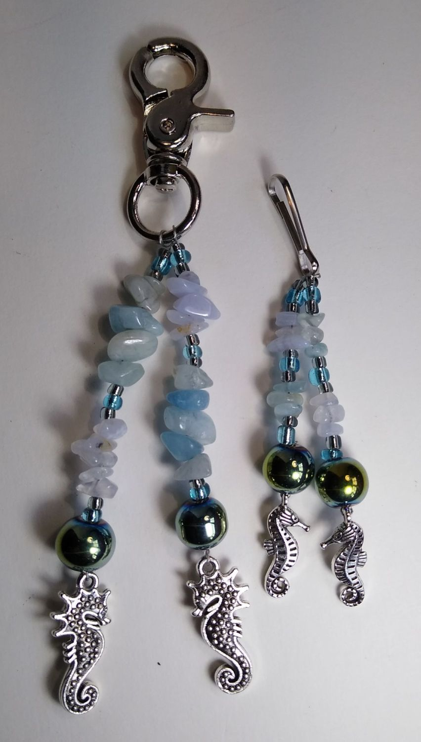 SEAHORSES HEADCOLLAR AND BRIDLE CHARMS.