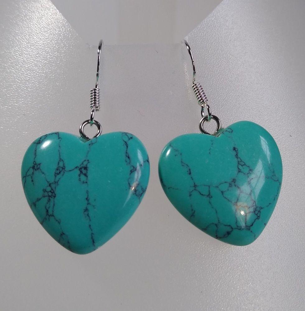 Serenity Turquoise Heart Earrings