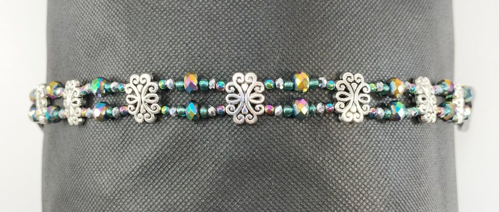 BROWBAND - FOCUS AND CONCENTRATION RAINBOW HEMATITE. Cob Size.