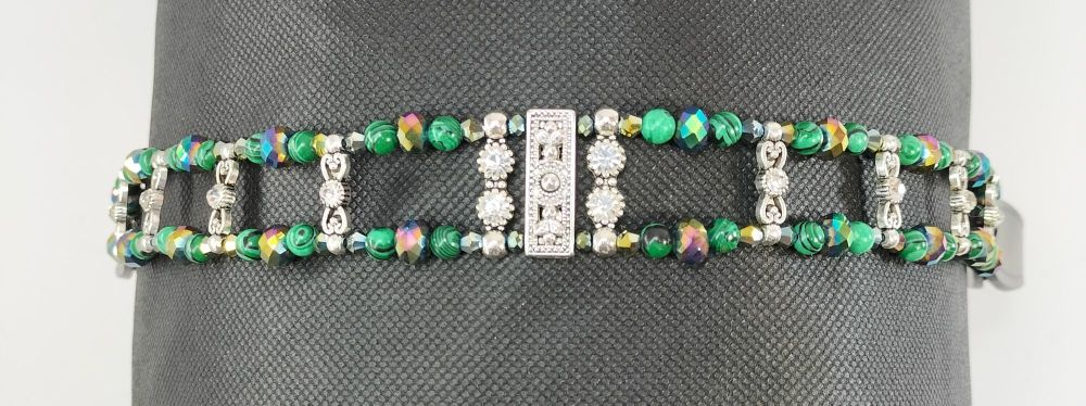 Browband - Healing and Personal Growth. Malachite. Full Size.