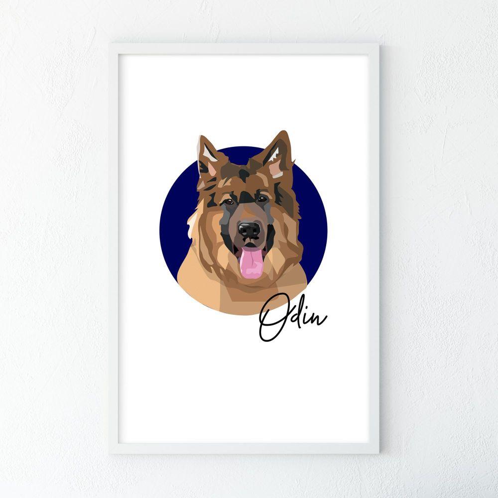 Personalised Dog Portrait Illustration