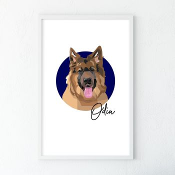 Personalised Dog Portrait Illustration