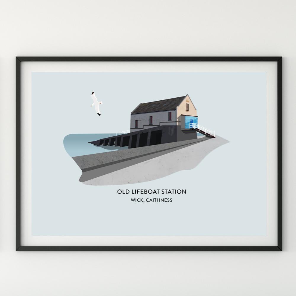 Old Lifeboat Station Illustration