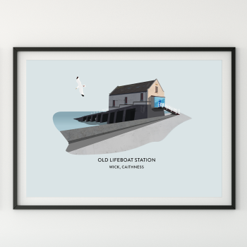 Old Lifeboat Station Illustration