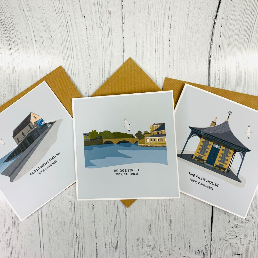 Pack of 6 Wick Illustration Cards