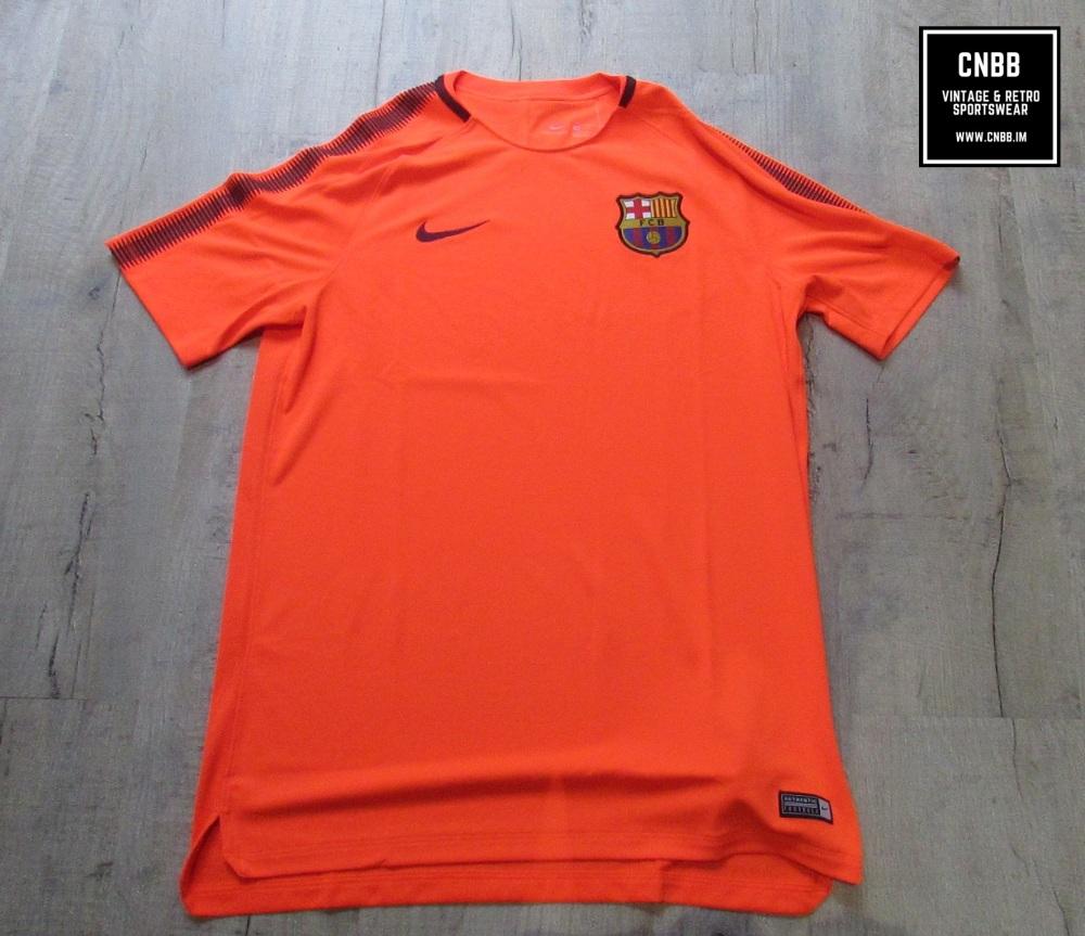 Nike Barcelona Mens Training T-Shirt Orange Size Large