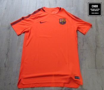 Nike Barcelona Mens Training T-Shirt Orange Size Large