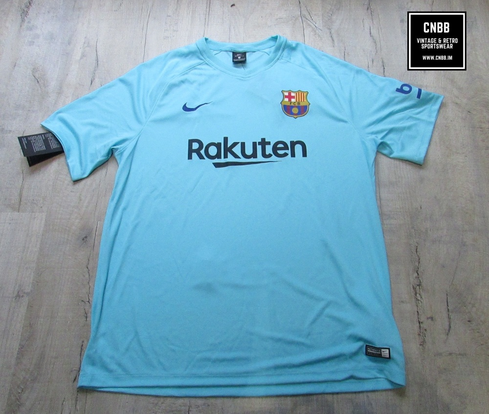 Nike Barcelona T-Shirt Polarised Blue Size Extra Large