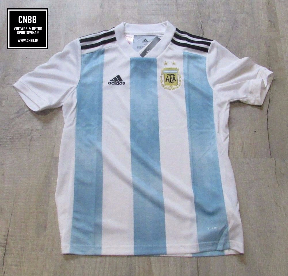Argentina adidas 2018 Home Football Shirt Age 11-12 Years