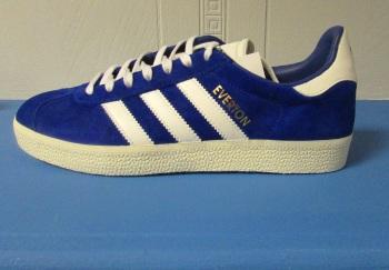 adidas Gazelle Everton Custom Trainers - Size 7