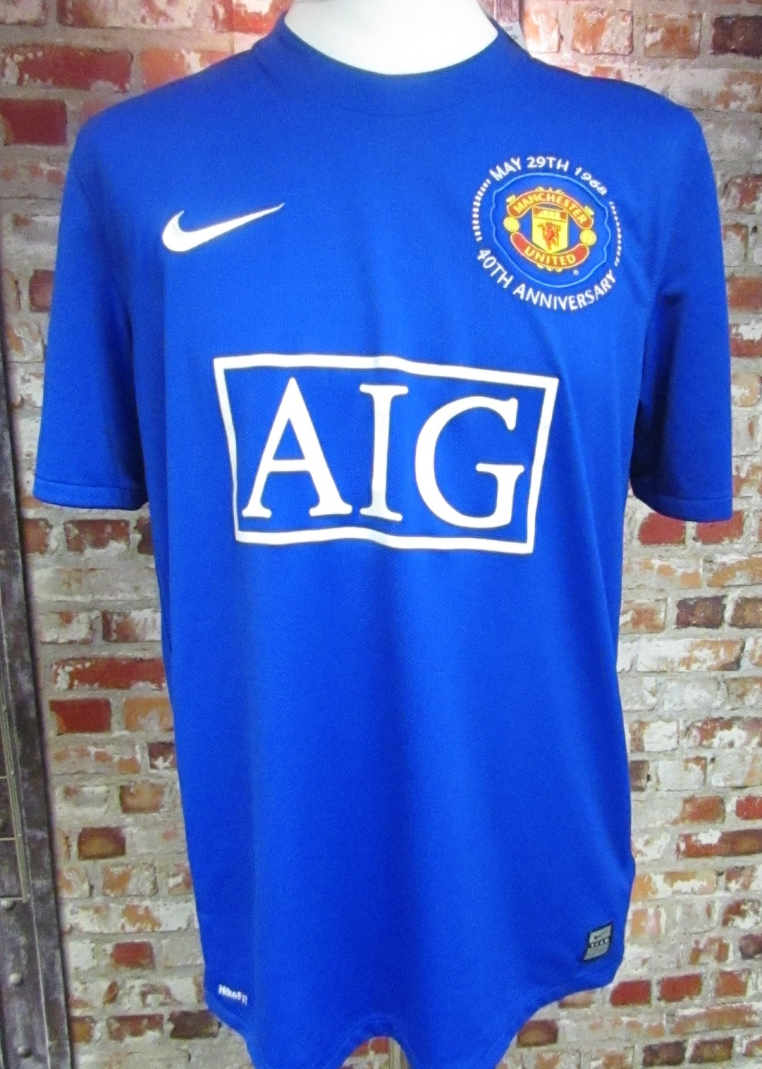 Vintage Nike Manchester United 2008/09 40th Anniversary Shirt
