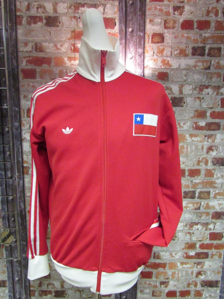 Vintage adidas Originals Chile Tracksuit Jacket Red 2004