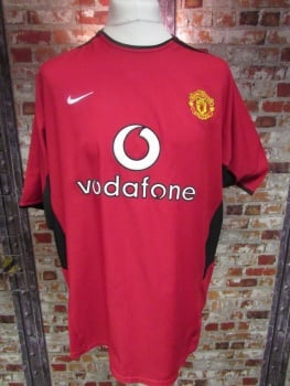 Vintage Manchester United 2002/04 Home Shirt - Extra Large