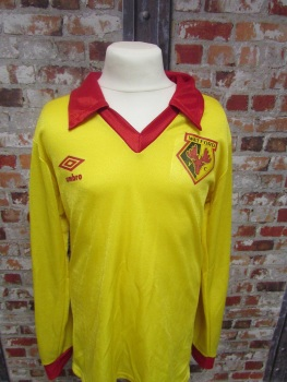 1979/82 Watford Umbro Long Sleeve Original Home Football Shirt