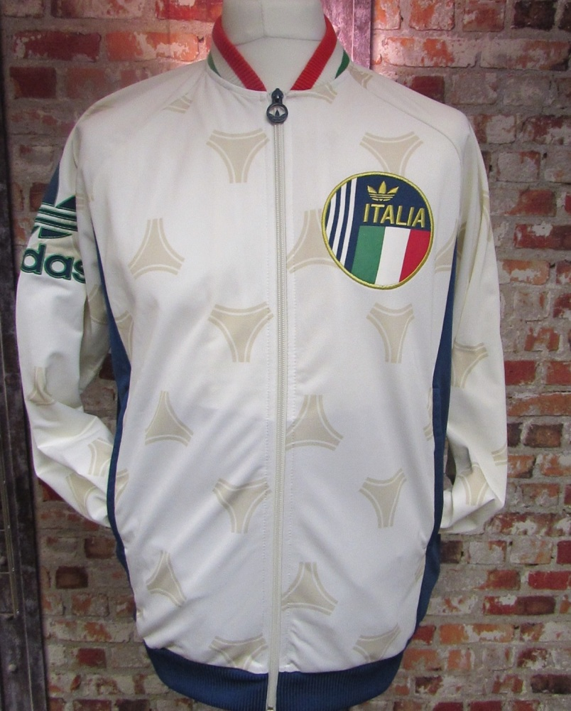 adidas Originals Italy Tango Retro 2013 Tracksuit Jacket White Size Large