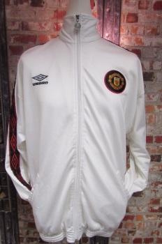Vintage Umbro Manchester United 90's White Tracksuit Jacket
