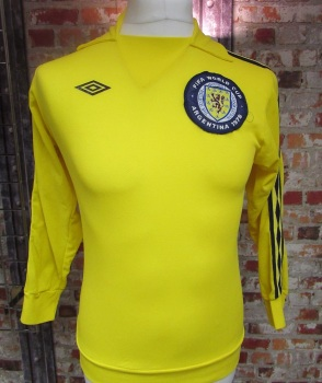 1978 Umbro Original  Scotland 1978 World Cup Goalkeeper Shirt Size Small