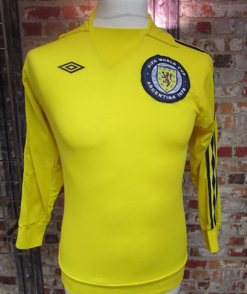 1978 Umbro Original  Scotland 1978 World Cup Goalkeeper Shirt Size Small