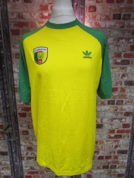 adidas Cameroon Street T-Shirt Yellow Size Large
