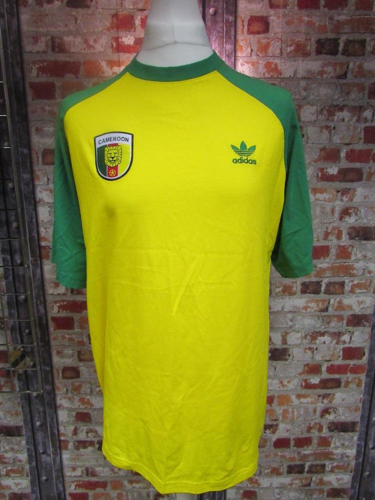 adidas Cameroon Street T-Shirt Yellow Size Large