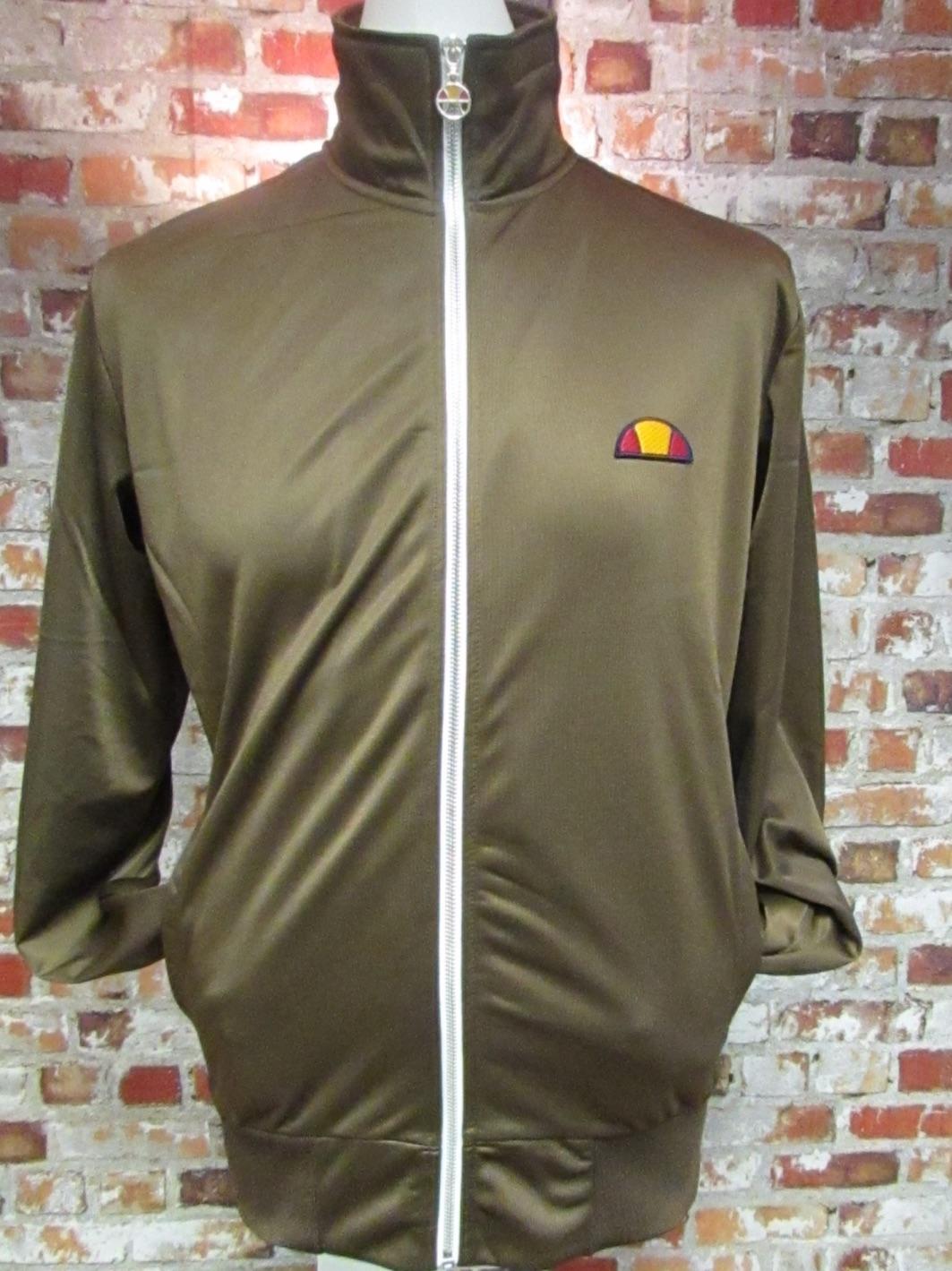 Ellesse Gasp Mens Retro Tracksuit Jacket Brand New in Brown