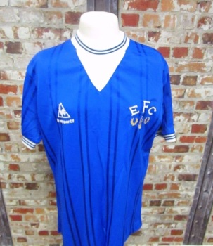 Orignal Everton 1986 Le Coq Sportif Football Shirt Size Youths