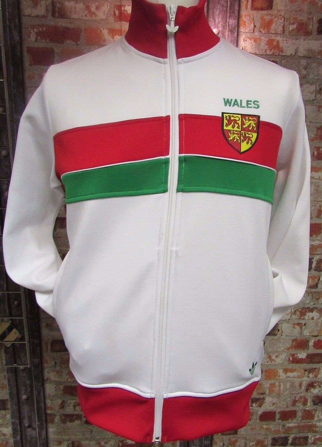 Vintage Wales adidas Track Jacket White and Red Unisex? Size XL