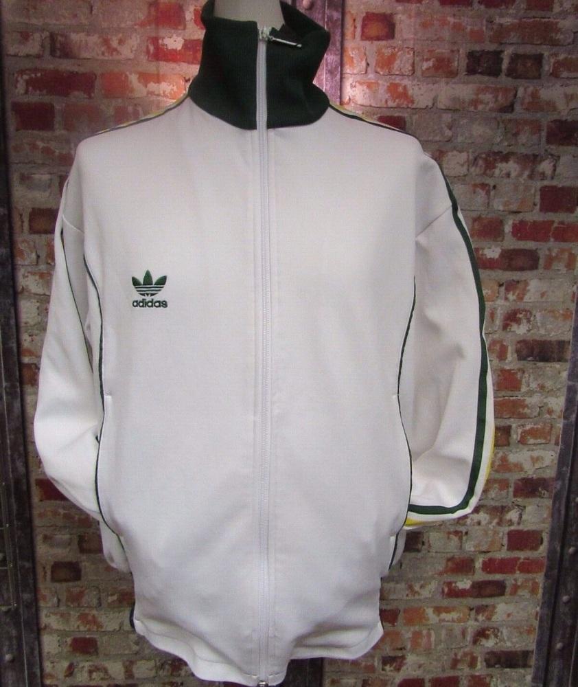 Vintage adidas Australia Track Jacket White, Green and Yellow 2004 Size XL
