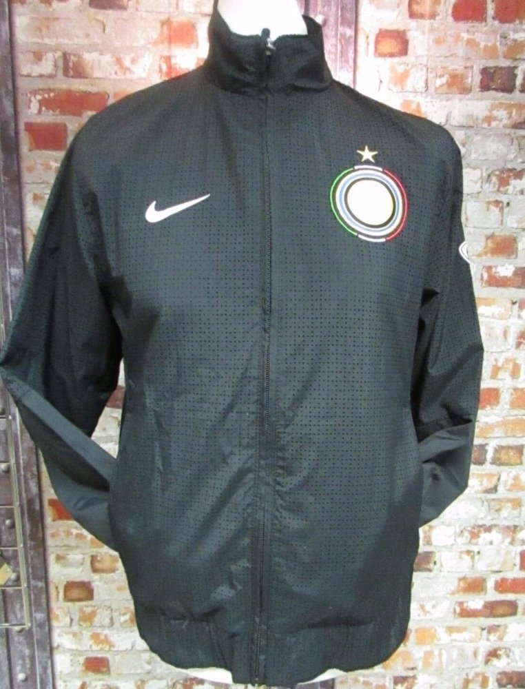 Inter Milan Nike Perforated Tracksuit Jacket Black Size Medium 38/40''