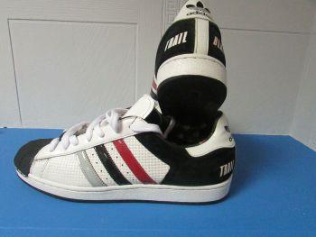 adidas Superstar Portland Blazers NBA Trainers White and Black