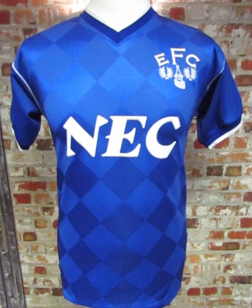 Everton Scoredraw 1986 Home Football Shirt