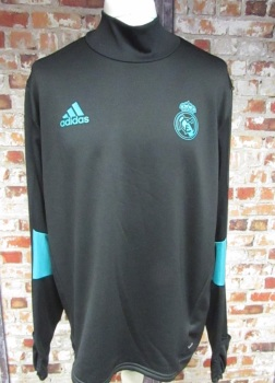 adidas Real Madrid Layered Sweatshirt Black & Green Size XL