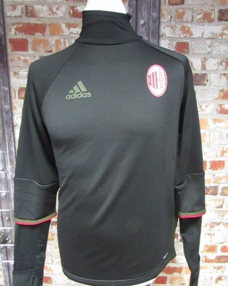 adidas AC Milan Layered Sweat-shirt Black Size Small Mens 36/38''