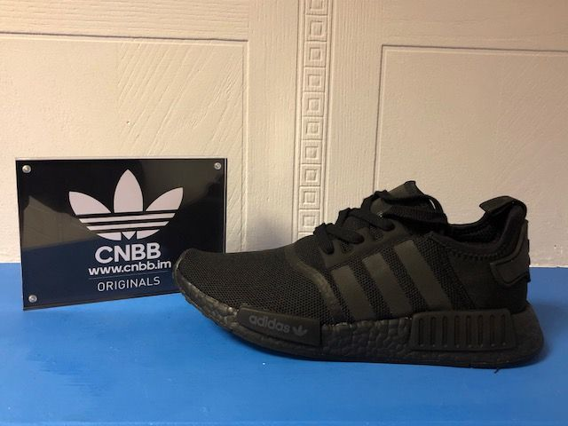 adidas NMD R1 Triple Black Mens Trainers Size 9