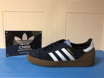 adidas Montreal 76 Navy and Sky Blue Suede Trainers Size 9