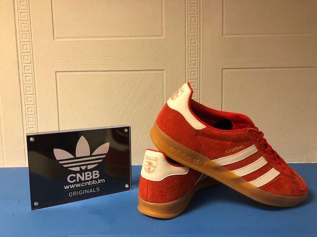 adidas Gazelle Indoor Custom Arsenal Trainers Size 10