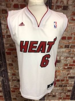 adidas Miami Heat Le Bron James Basketball Jersey Size Small