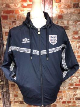 Umbro England Reversible Hood Jacket Size Medium