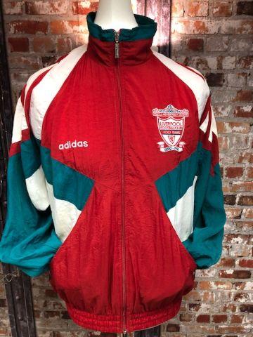 adidas Liverpool 1991/93 Shell Style Track Jacket Size Medium